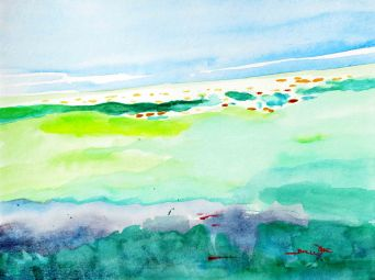 """""""abstract seascape"""", """"abstract mediterranean"""", """"seascape watercolor"""", """"mediterranean watercolor"""", """"abstract beach"""", """"mediterranean painting"""""""