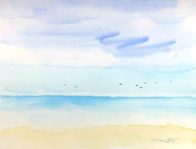 """beach painting"", ""beach watercolor"", ""ocean painting"", ""ocean watercolor"", ""artist dave white"", ""dave white paintings"", ""seascape painting"", ""seascape watercolor"""