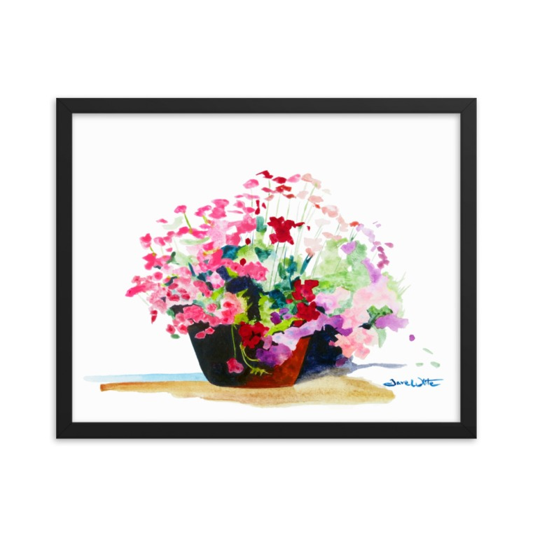 """flowers watercolor"", ""flower pot watercolor"", ""flowers watercolor painting"", ""flowers watercolor print"" ""flowers watercolor art print"""