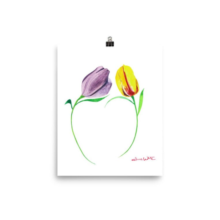 """tulips watercolor"", ""tulip wall art"", ""tulips painting"""
