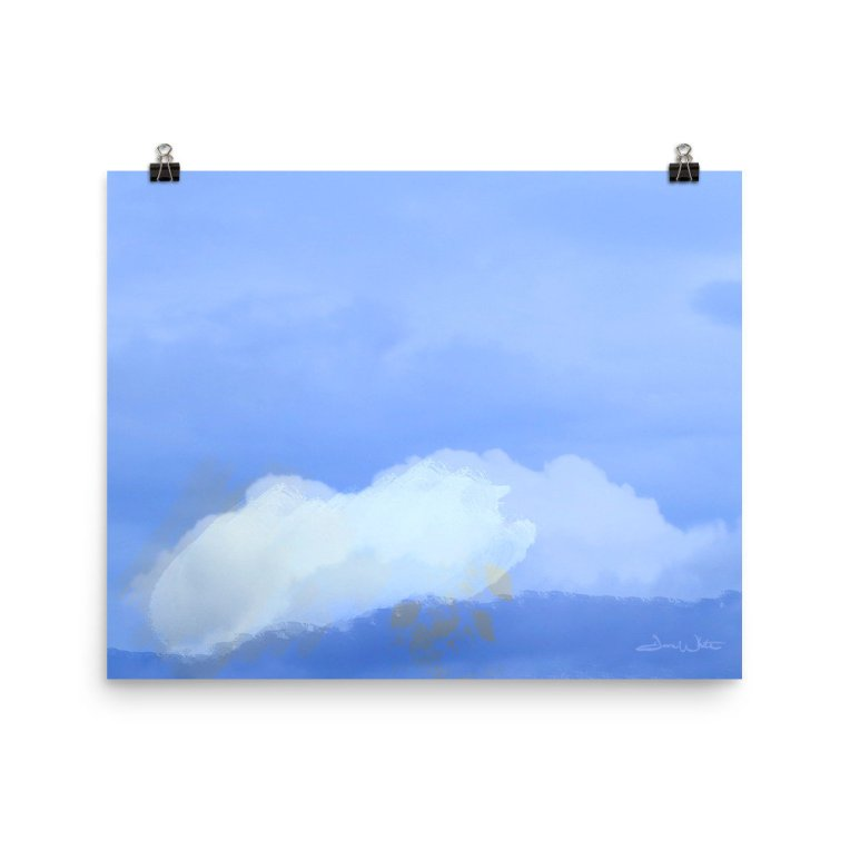 sky painting, sky, sky wall art, cloud art