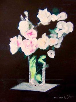 """roses oil painting"", ""bouquet of roses oil painting"", ""roses painting black background"", ""roses artwork"", ashburn artist, dave white artist, loudoun artist"