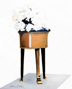 """white flowers oil painting"", ""flowers copper vase painting"", ""floral oil painting"", ""white flowers art"", ""white floral art"", ashburn artist, dave white artist, loudoun artist"