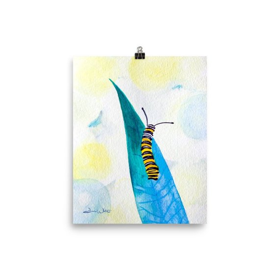 caterpillar kids art, caterpillar nursery art