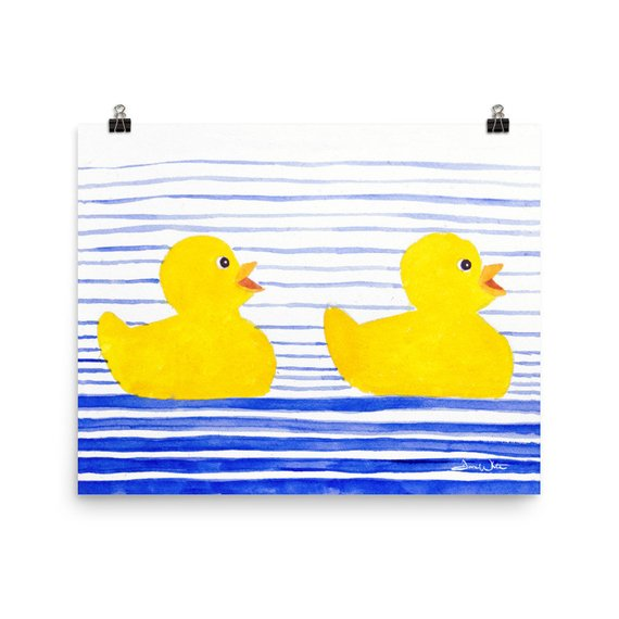 rubber duckies art, rubber ducks art, rubber ducky art, rubber duckies kids art