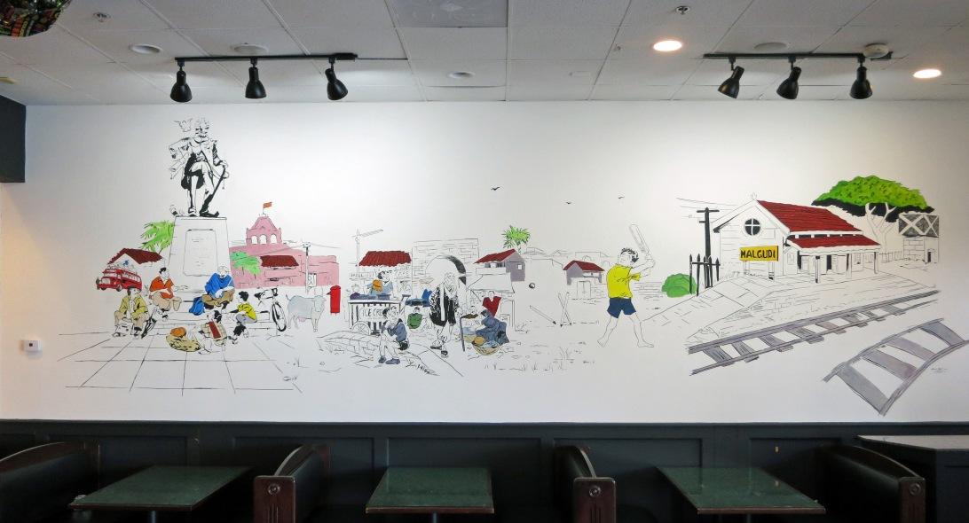 malgudi veg mural, malgudi days mural, ashburn mural, ashburn mural artist, loudoun mural, loudoun mural artist