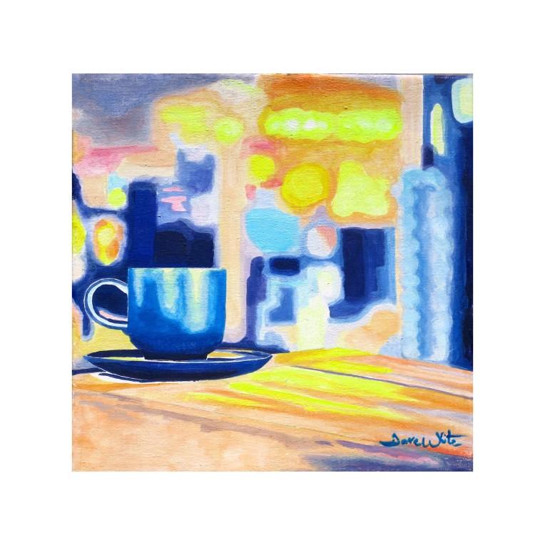 """original coffee painting"", ""coffee painting on canvas"""