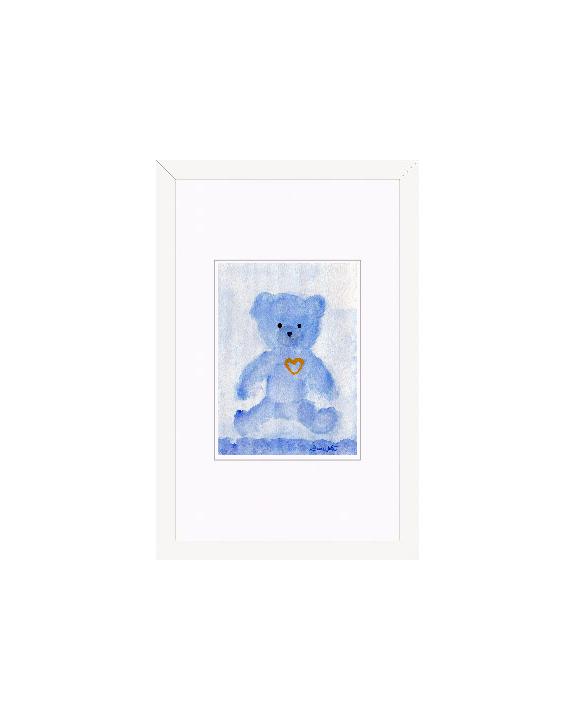"""""""teddy bear watercolor"""", """"framed teddy bear painting"""", """"framed nursery art"""", """"teddy bear art"""""""