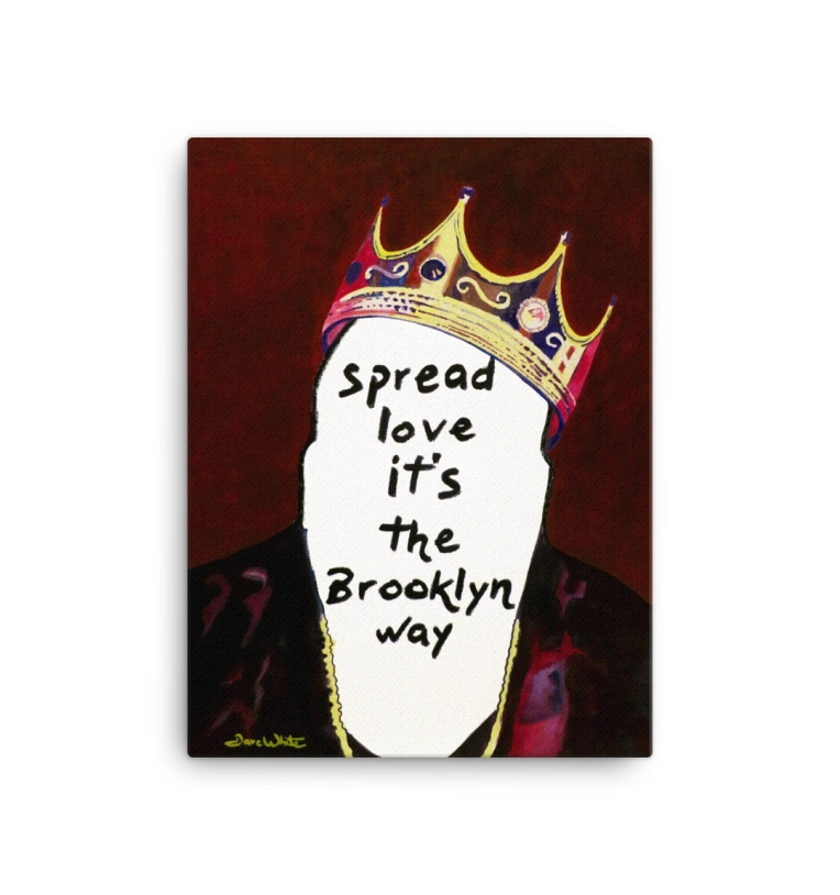 """biggie crown painting"", ""original biggie painting"", ""biggie canvas painting"", ""notorious big painting"", ""notorious big crown painting"""