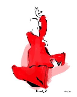 flamenco dancer art, flamenco art, flamenco artwork