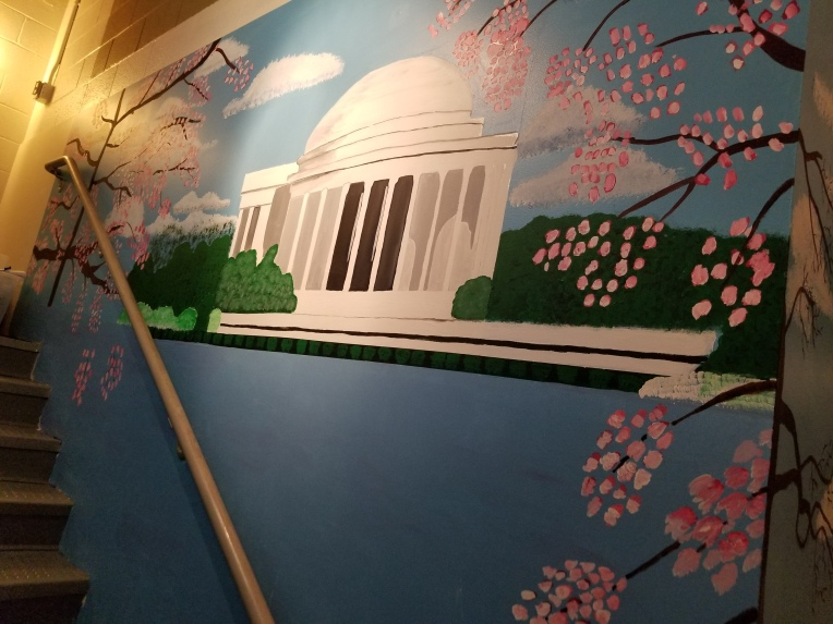 The Jefferson Monument Mural at The Jefferson Hotel in Washington DC