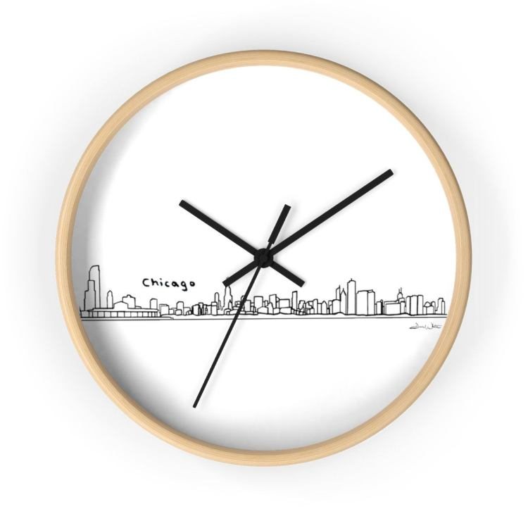 Chicago Skyline Clock