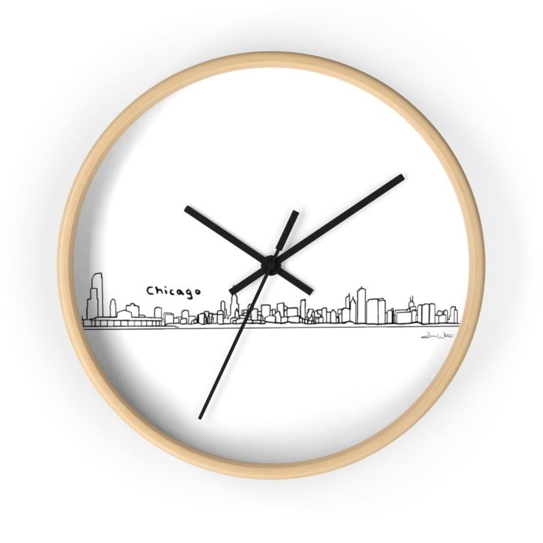 Chicago Skyline Clock