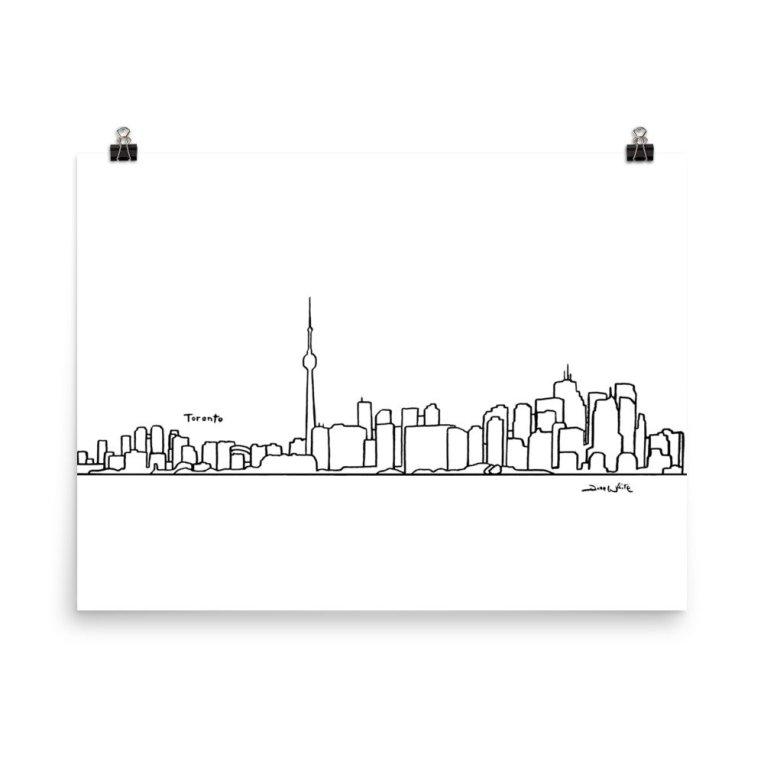 Toronto Skyline Art Print on Matte Paper