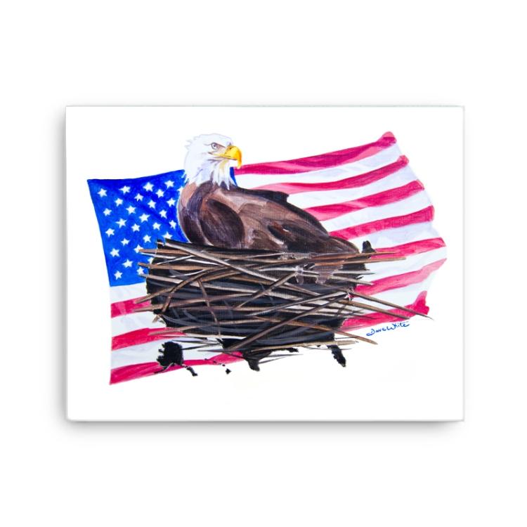 American Eagle USA Flag Painting