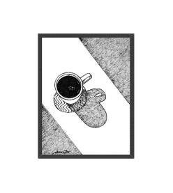 original coffee art black white