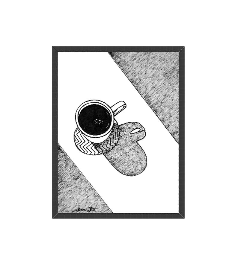 original coffee art black white