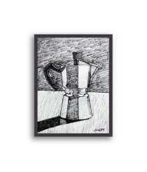 moka coffee art, coffee art, moka art print