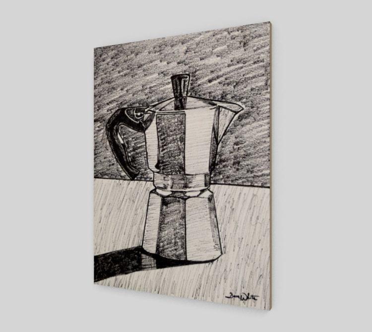 moka pot art, coffee art