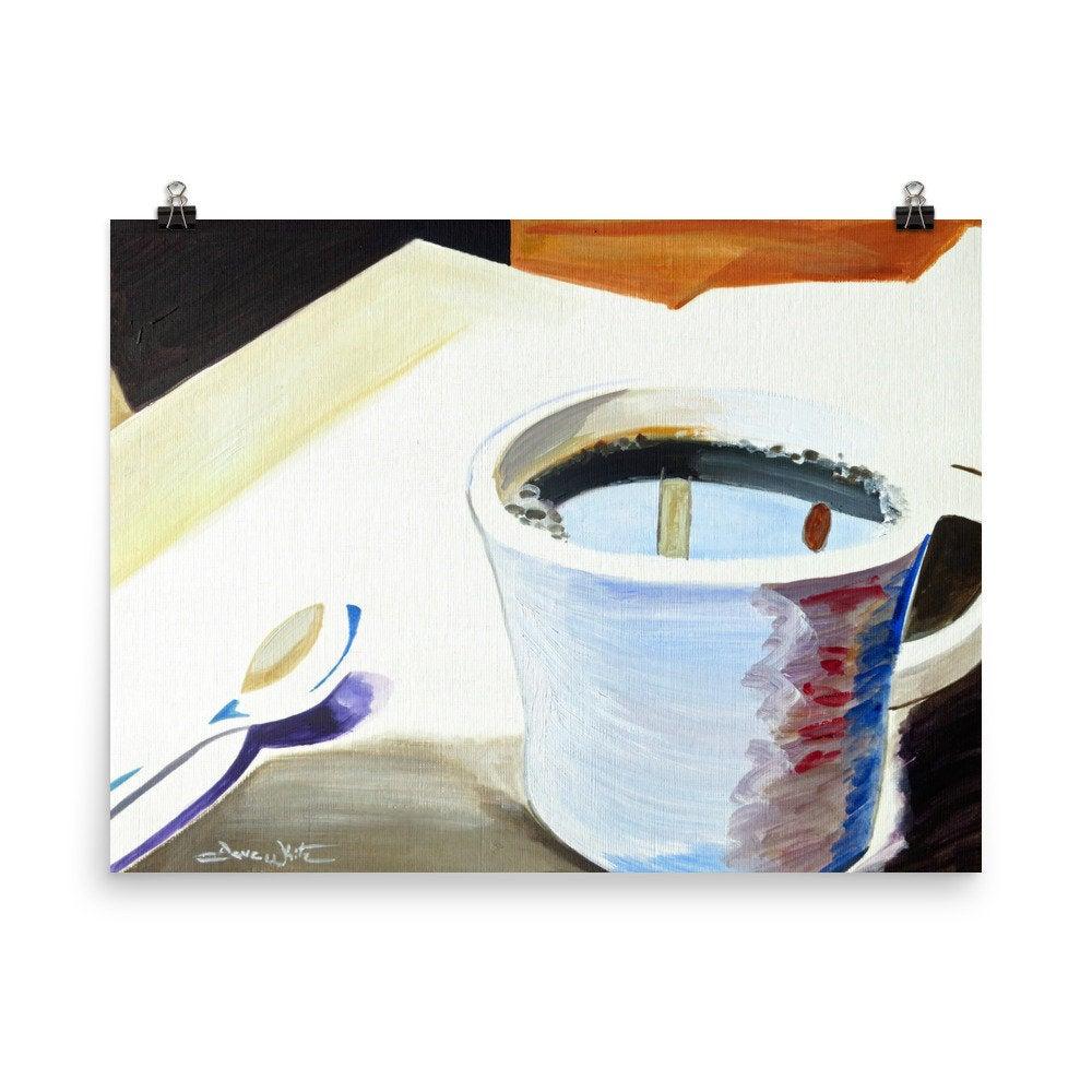 coffee painting, coffee art