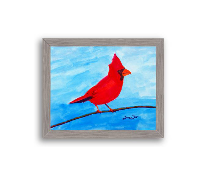 cardinal bird watercolor